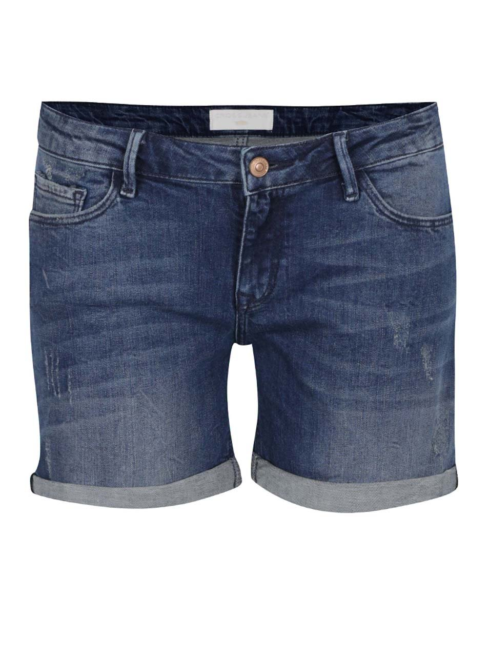 Modré dámské džínové kraťasy Cross Jeans ... 867fdbc4c9
