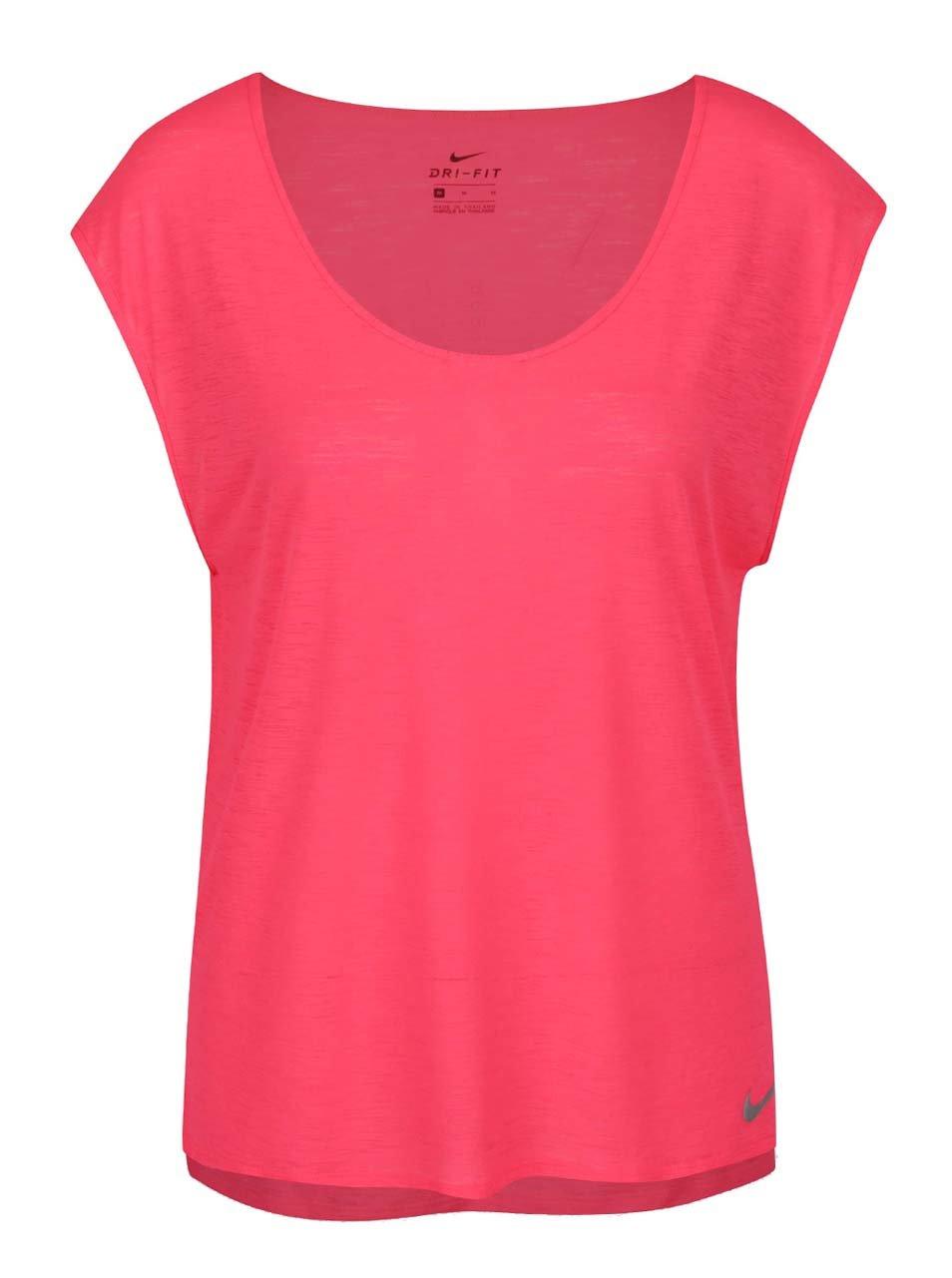 6834cfa615e1 Ružové dámske funkčné tričko s krátkym rukávom Nike ...