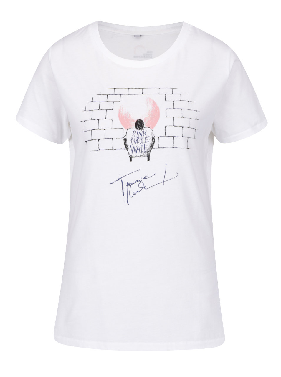 """""""Dobré"""" bílé dámské tričko pro Pink Bubble Terezie Kovalová"""