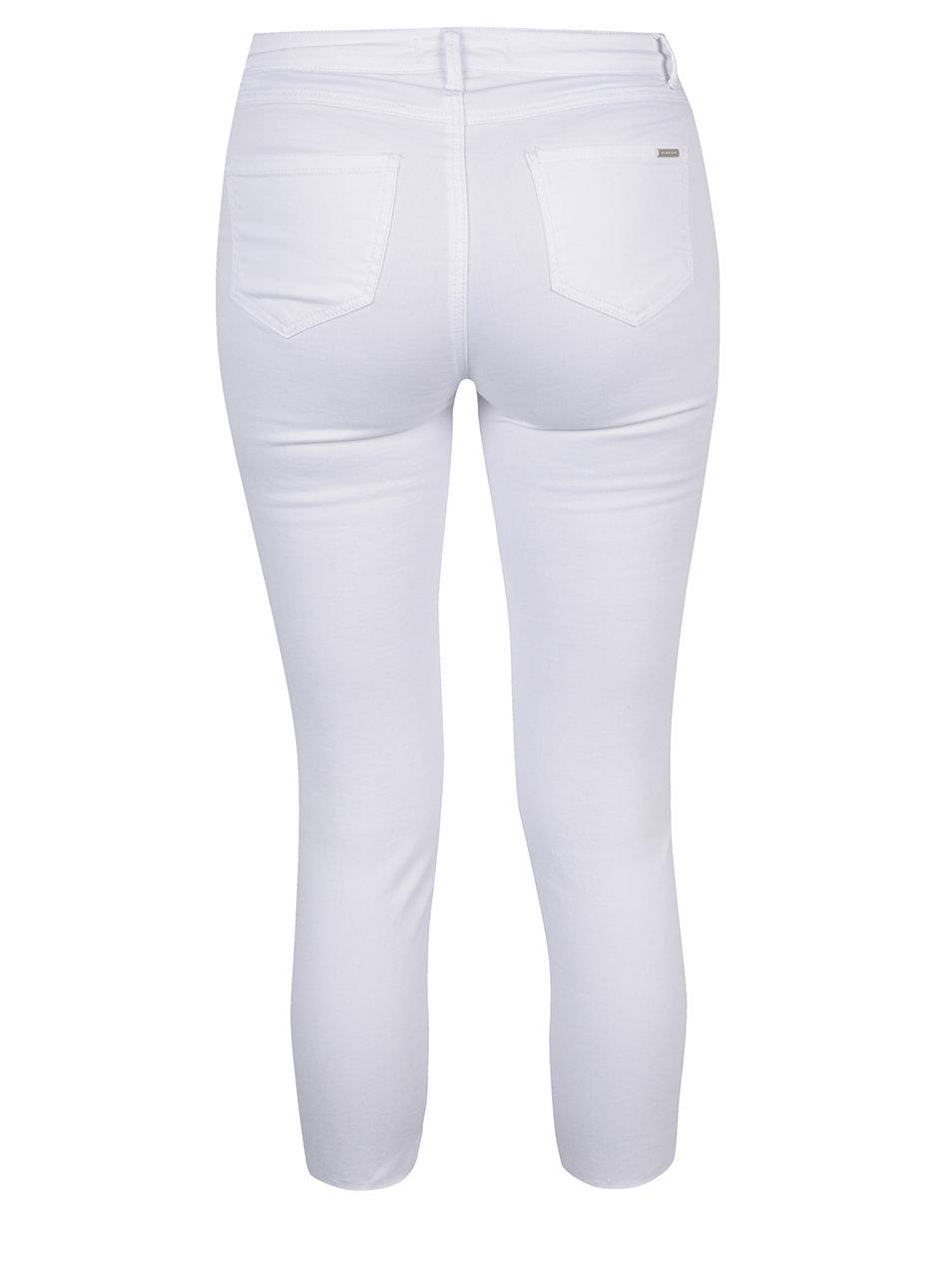 ef3f8d58bc5 Bílé zkrácené skinny džíny s potrhaným efektem TALLY WEiJL ...