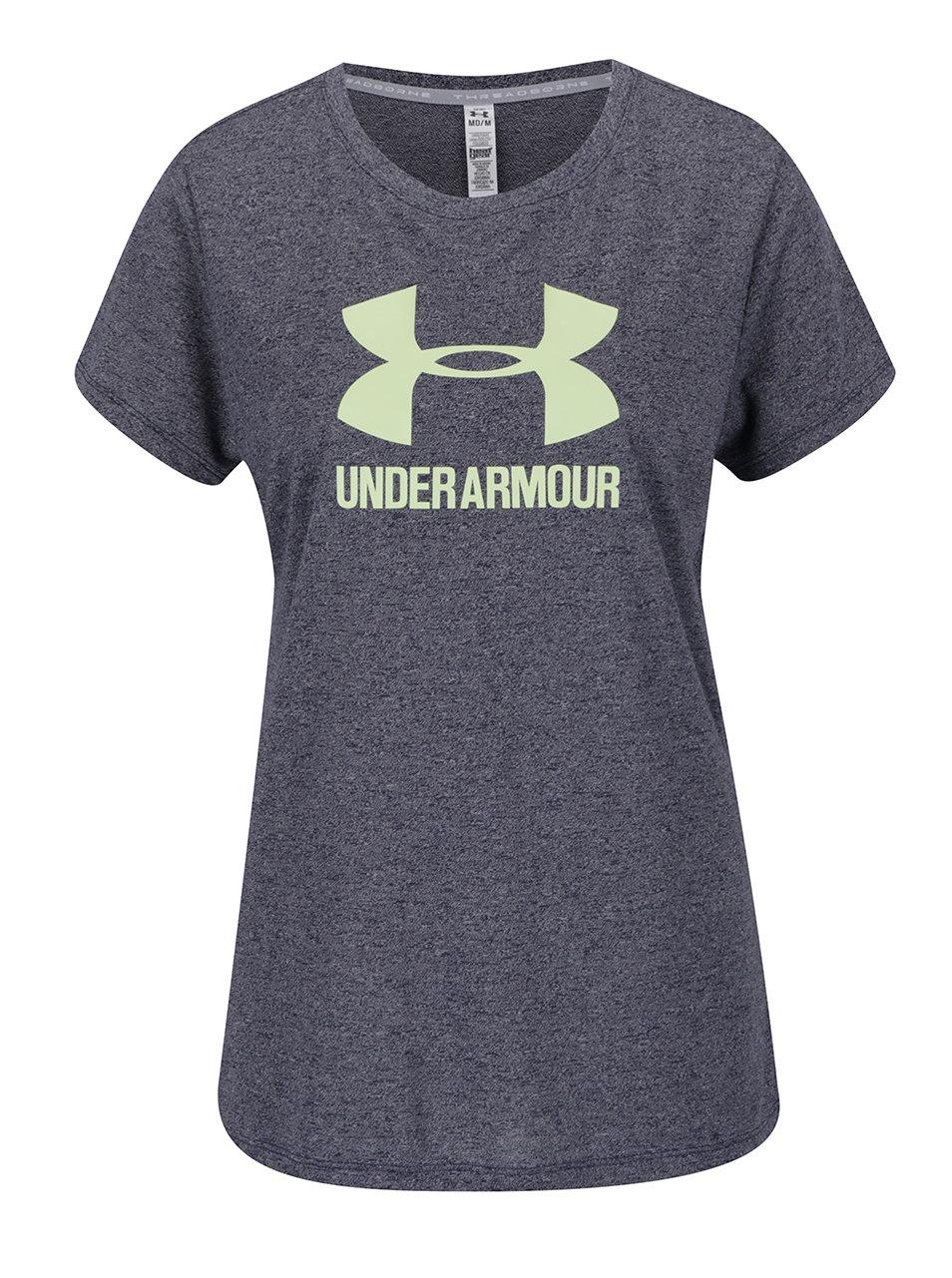 c1f3fc640c90 Modré dámske žíhané funkčné tričko Under Armour Threadborne ...