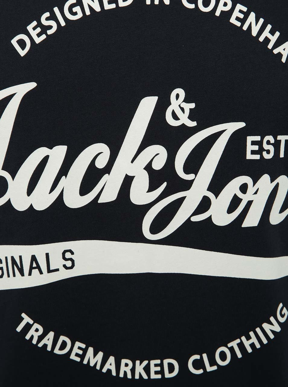 Tmavě modré tričko s potiskem Jack   Jones Ornyraffa ... edf58a9f77