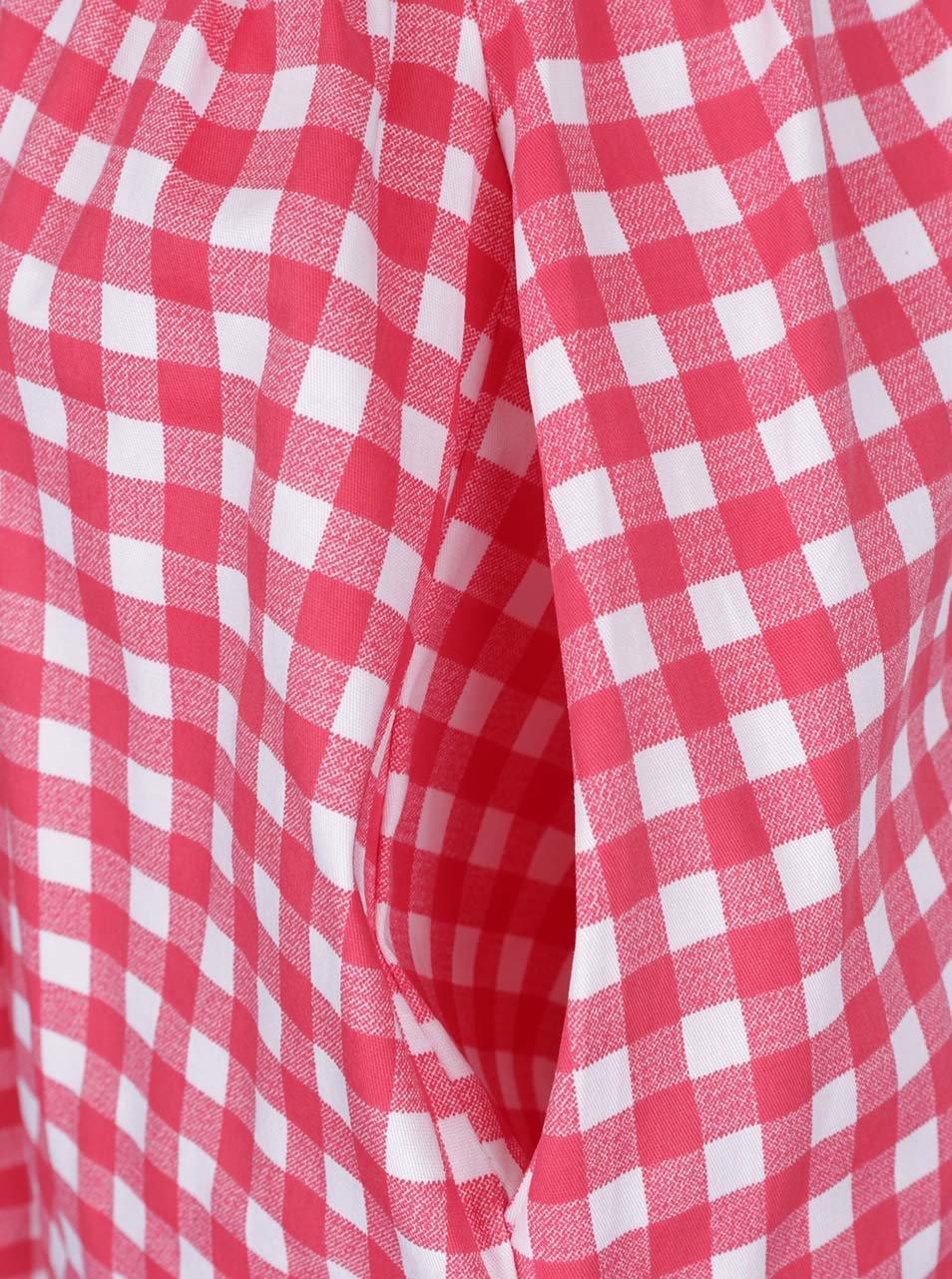 Krémovo-červená kostkovaná sukně ZOOT ... 5ae107f9e8