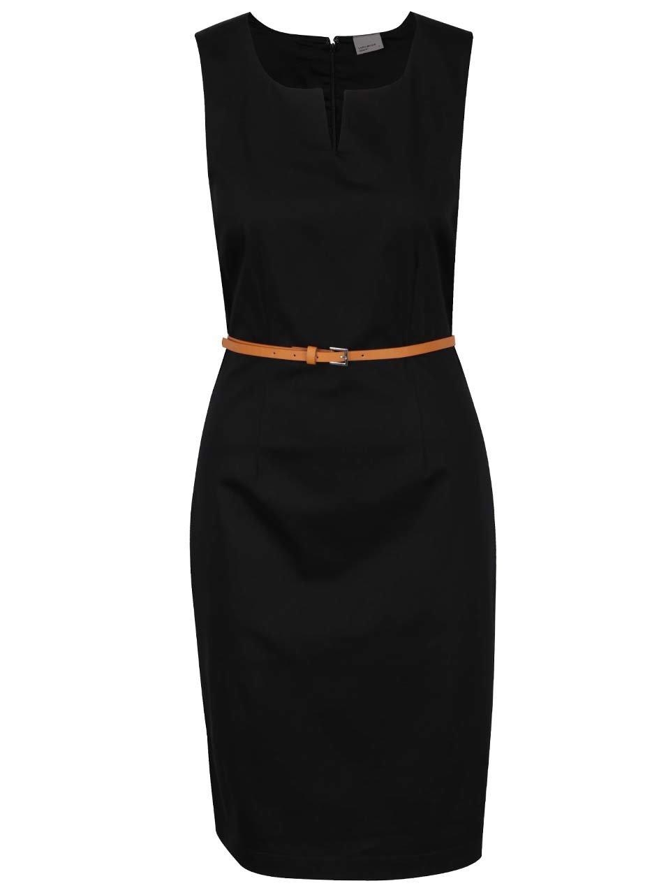 b1fc8dfef4 Čierne puzdrové šaty s opaskom VERO MODA Pekaya ...