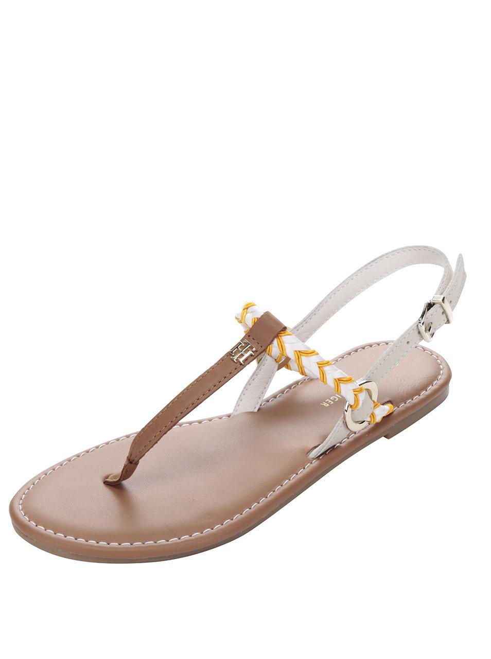 Oranžovo-krémové dámske sandále Tommy Hilfiger ... 49198196dc9