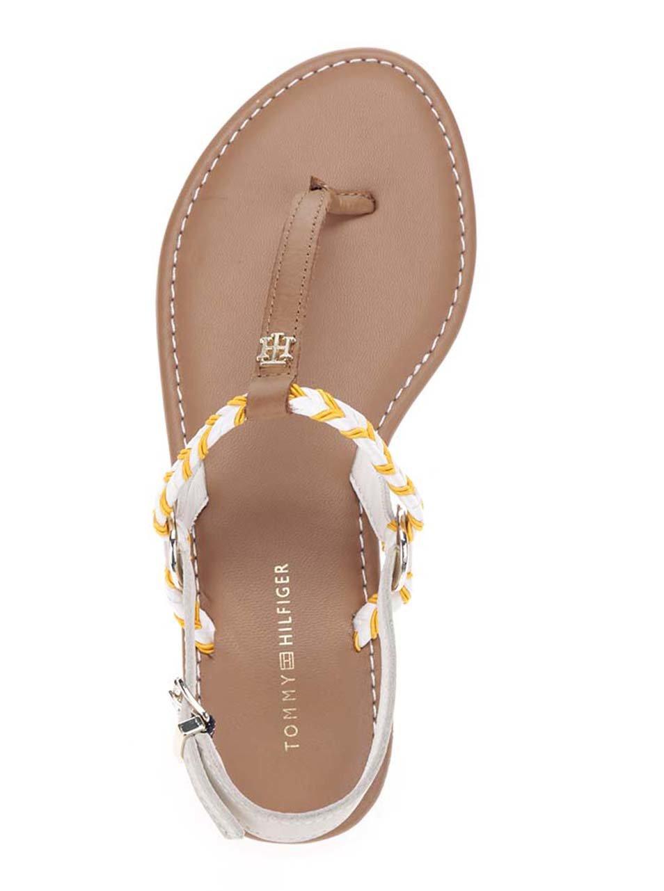 Oranžovo-krémové dámské sandály Tommy Hilfiger ... 7d8ddfbfa34