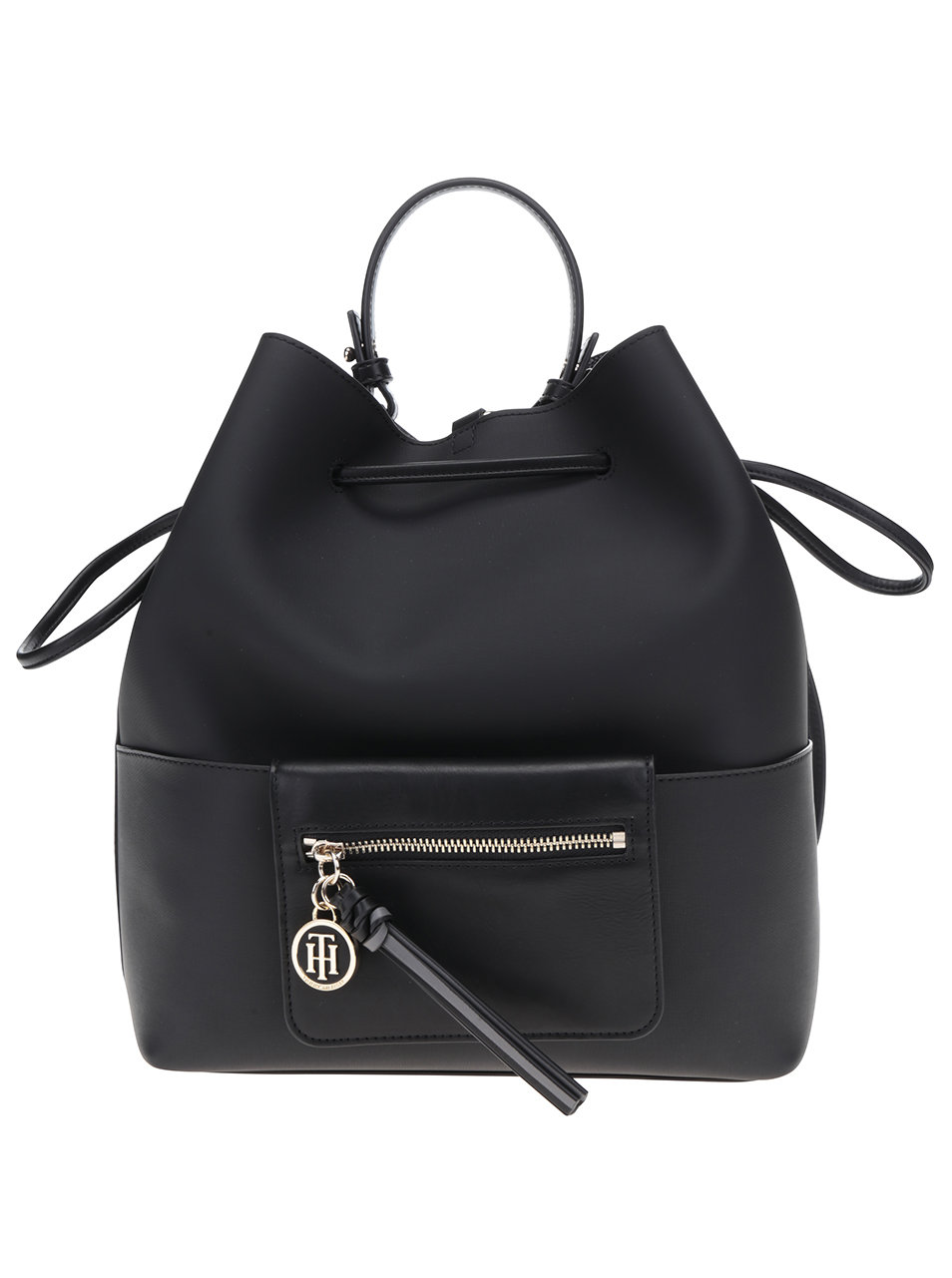 04f3621ed4 Černý dámský batoh kabelka Tommy Hilfiger ...