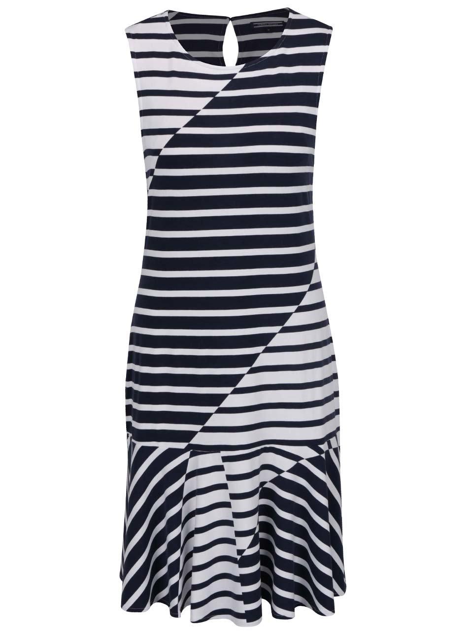 Tmavomodré dámske pruhované šaty Tommy Hilfiger ... 1665db77412