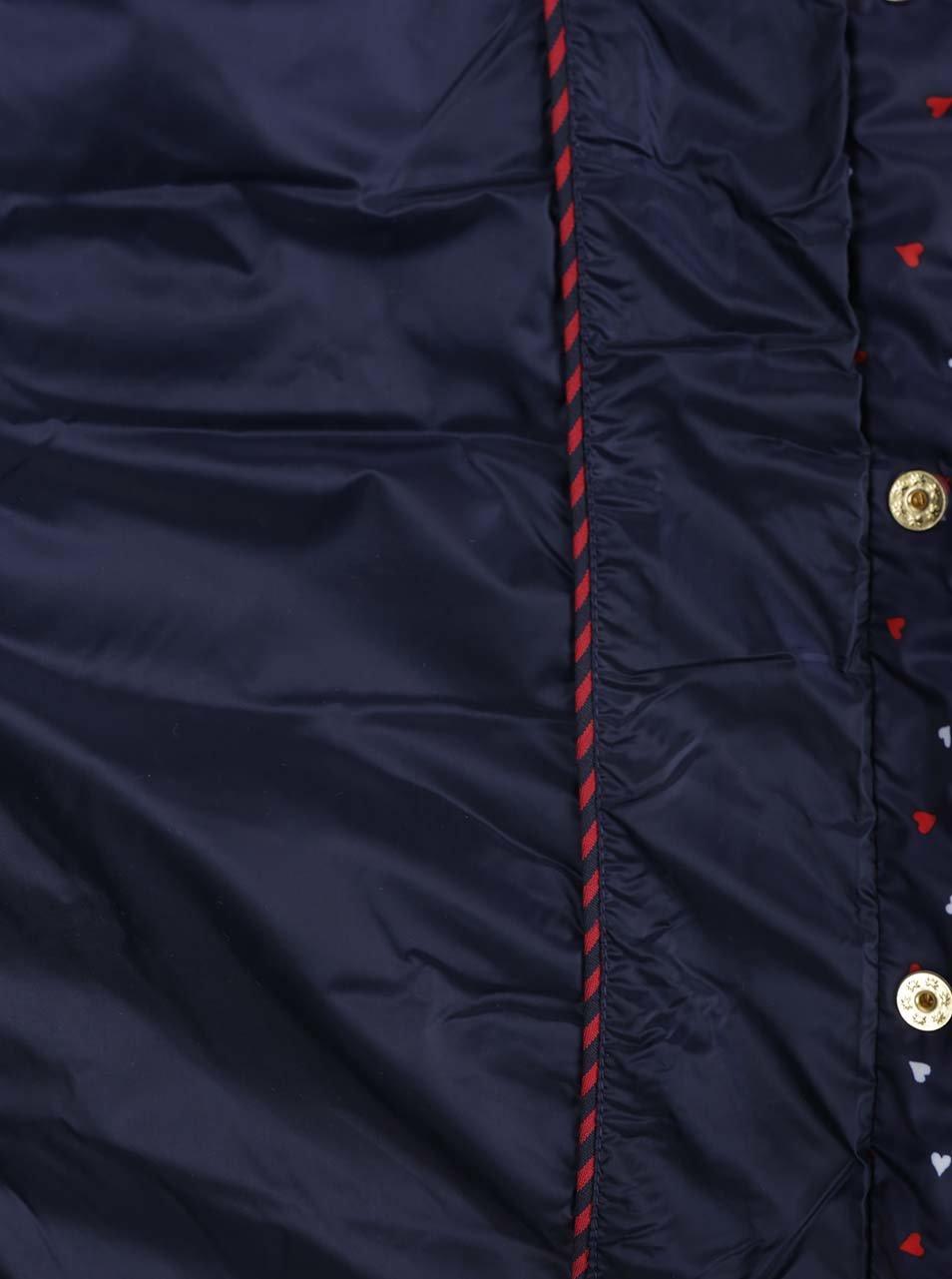 ac4dfb94a406 Tmavomodrá dámska vzorkovaná prešívaná bunda Tommy Hilfiger ...