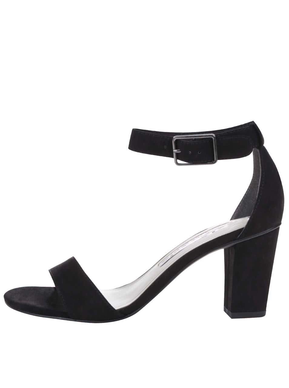 Černé sandály s páskem kolem kotníku Tamaris ... 9a520ecec8