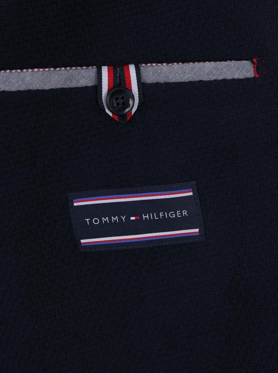 Tmavě modré pánské strukturované sako Tommy Hilfiger ... 0785a295676