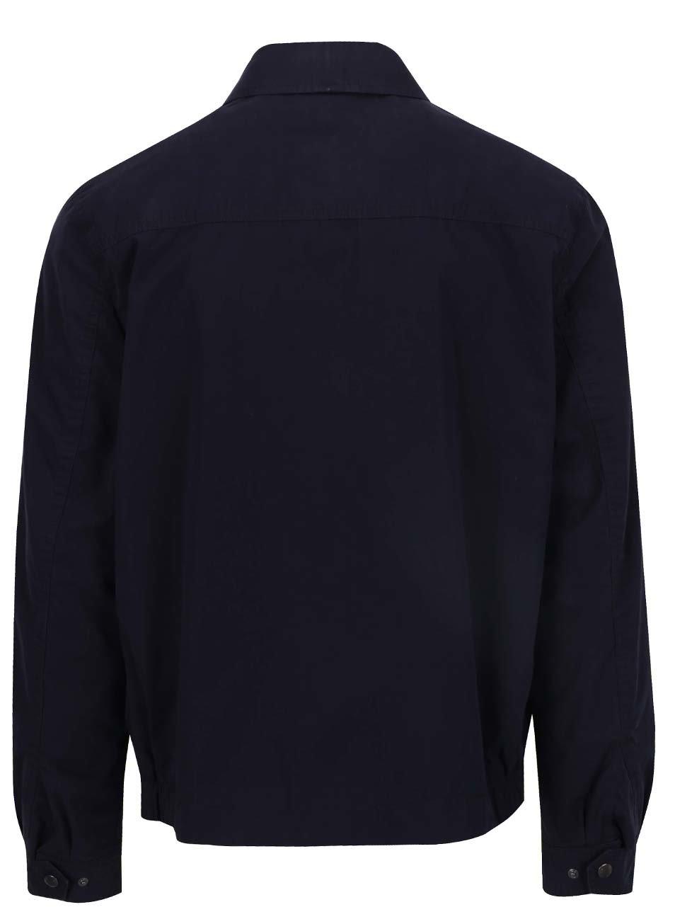 Tmavě modrá pánská bunda na zip Tommy Hilfiger ... ee97831656b