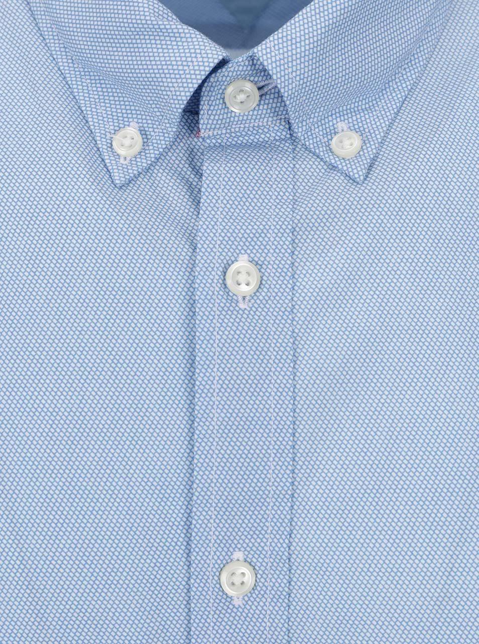 c23b27a9548 Světle modrá pánská vzorovaná košile s krátkým rukávem Tommy Hilfiger ...