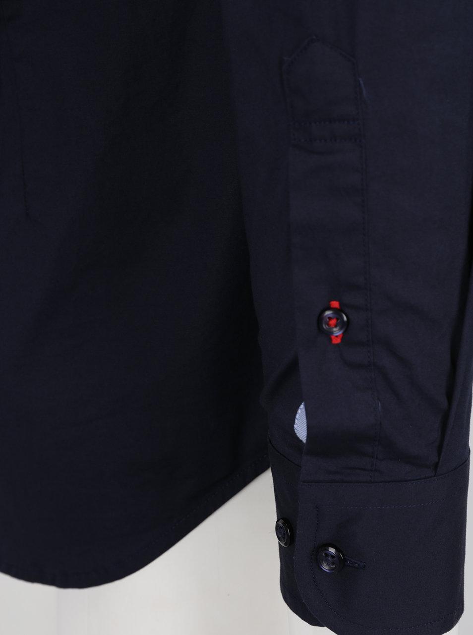Tmavomodrá pánska formálna slim fit košeľa Tommy Hilfiger ... 5d33d4c81eb