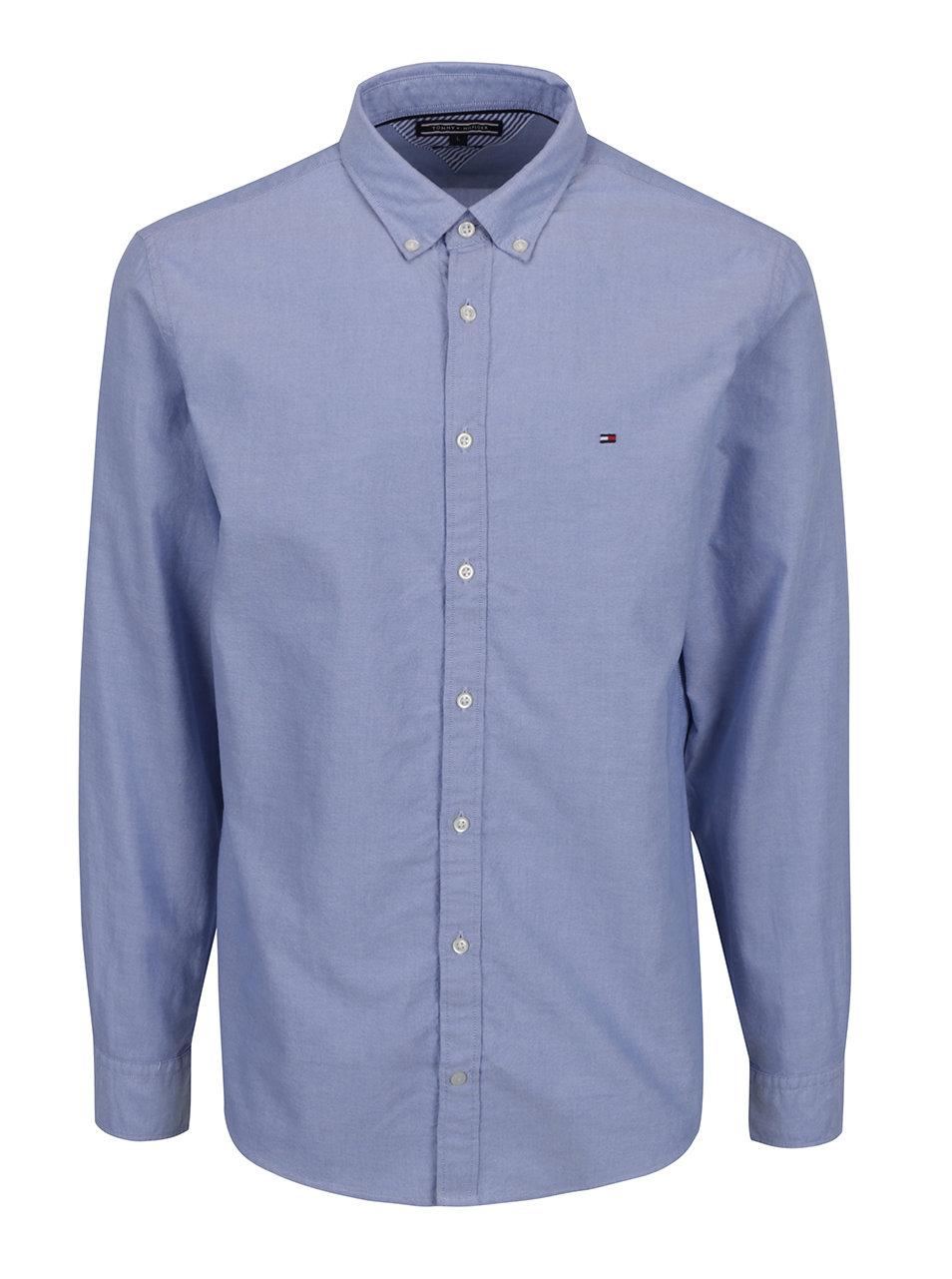 Světle modrá pánská košile s dlouhým rukávem Tommy Hilfiger ... c2b6f04e04