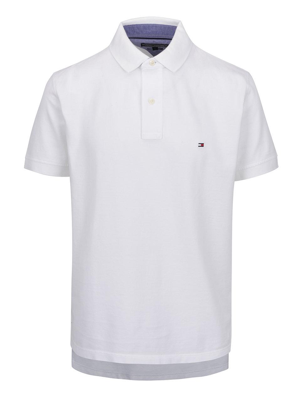 Bílé pánské polo tričko Tommy Hilfiger ... 2e1185c617