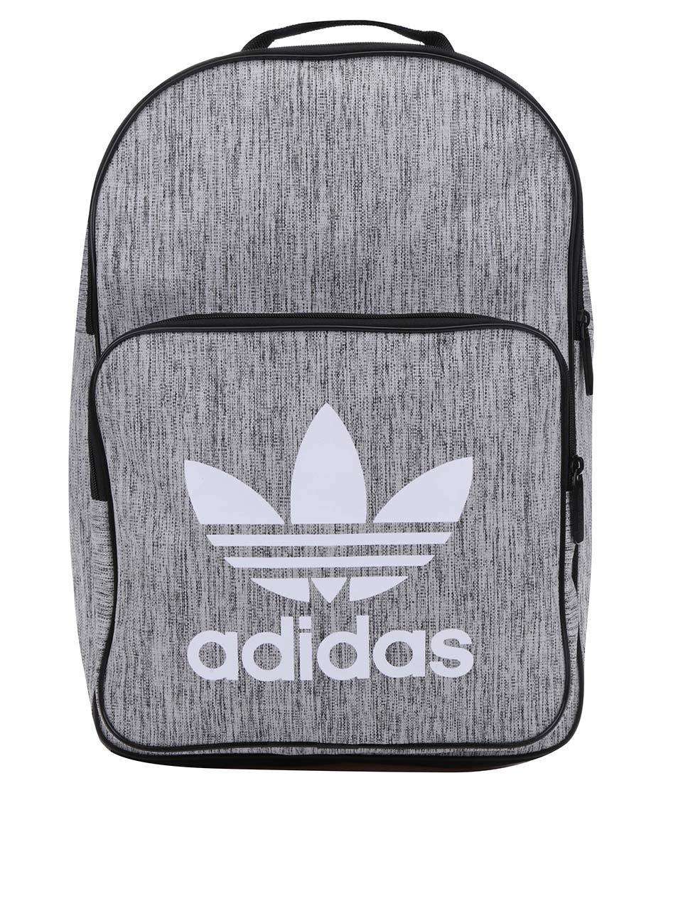 Šedý žíhaný unisex batoh adidas Originals ... bfdac2d3cb