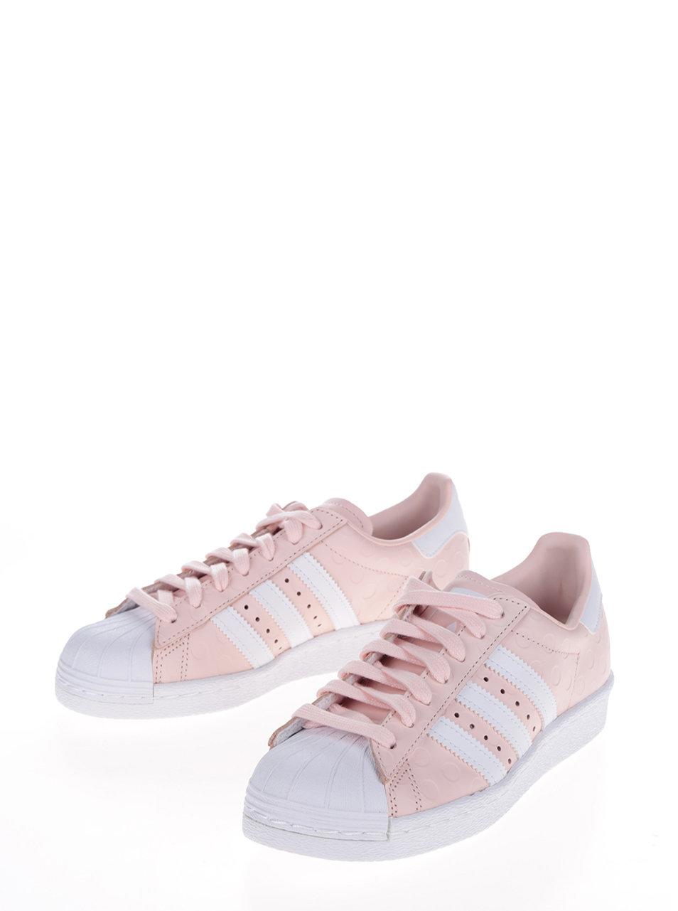 252f34284d66 Ružové dámske kožené tenisky na platforme adidas Originals Superstar ...