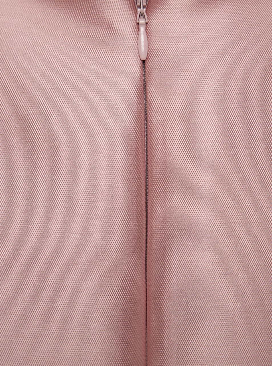 0bf235e8adda Svetloružové lesklé šaty na ramienka Miss Selfridge ...