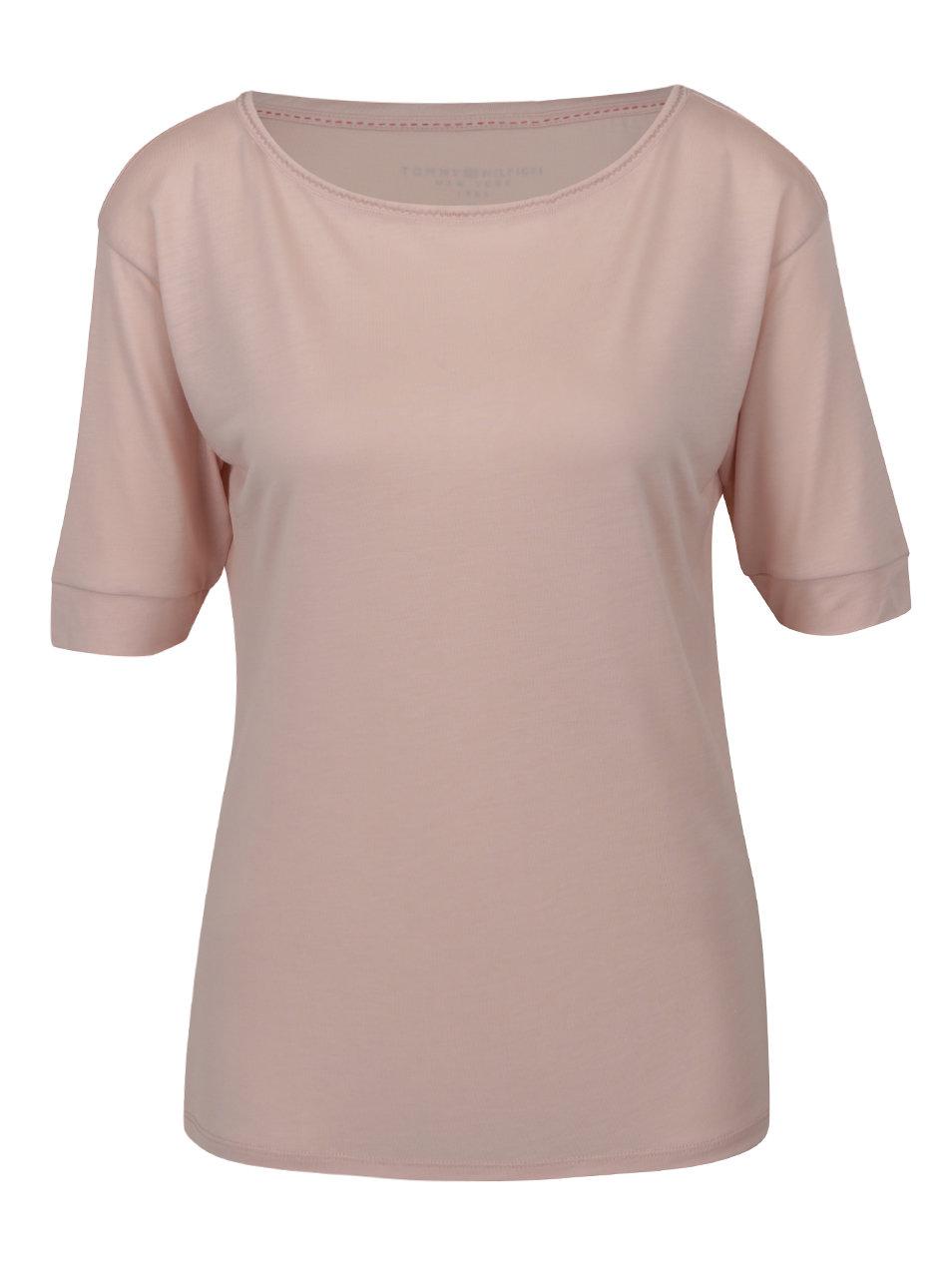 Svetloružové dámske tričko Tommy Hilfiger ... bd41ab28cda
