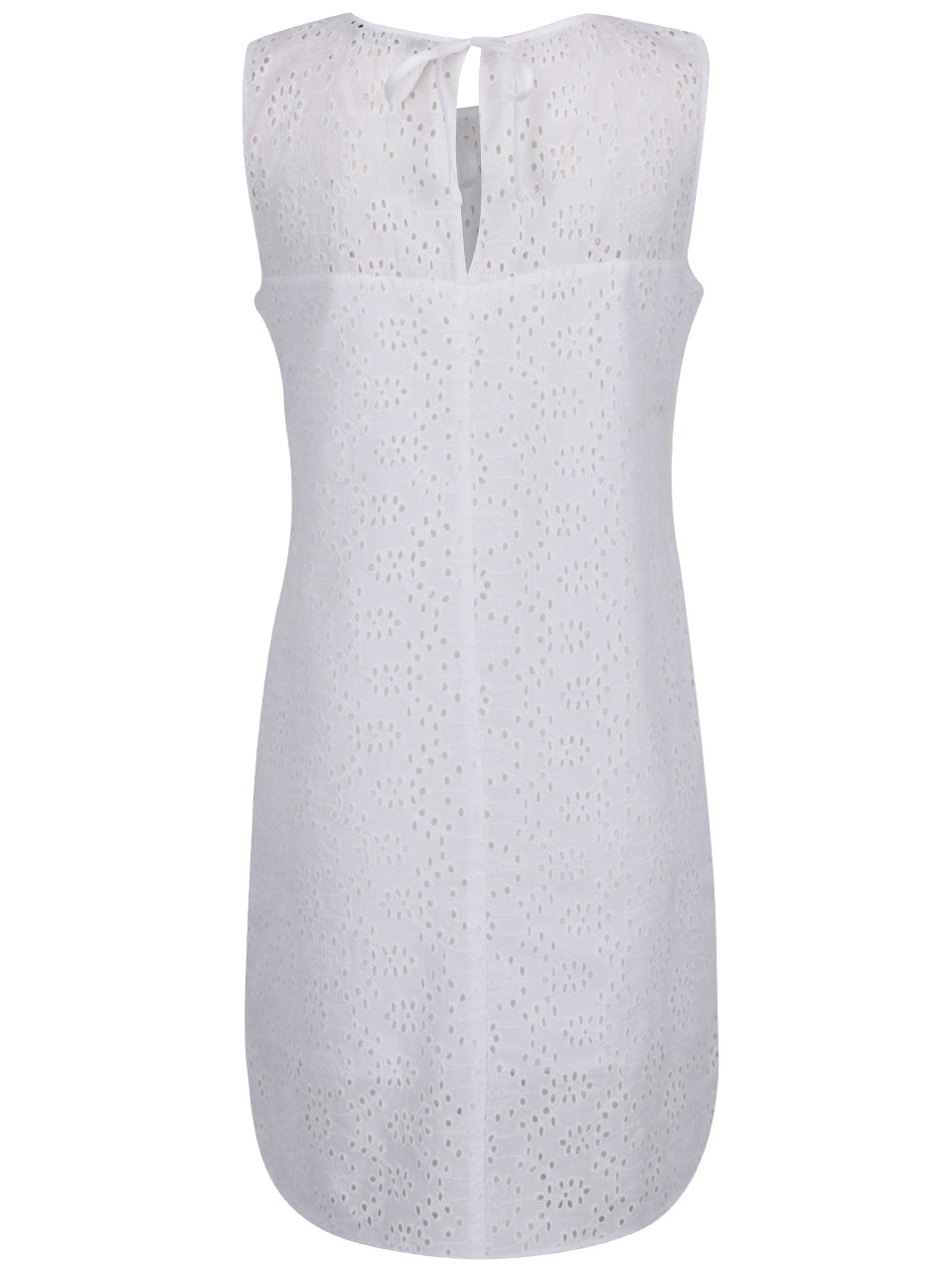 Biele šaty bez rukávov s madeirou Dorothy Perkins ... b48ecebcace