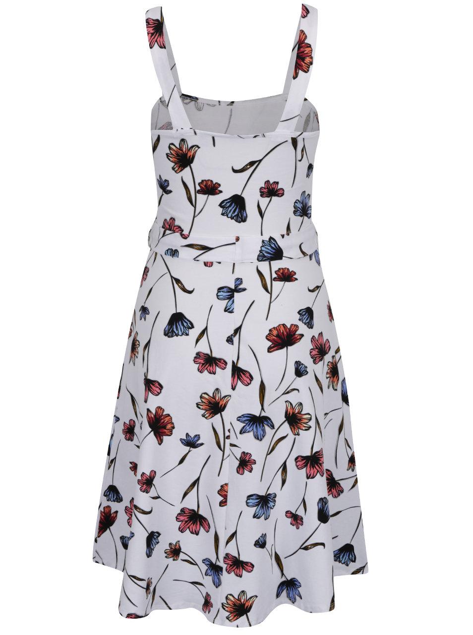 Bílé květované šaty na ramínka Dorothy Perkins ... 0501cd180c