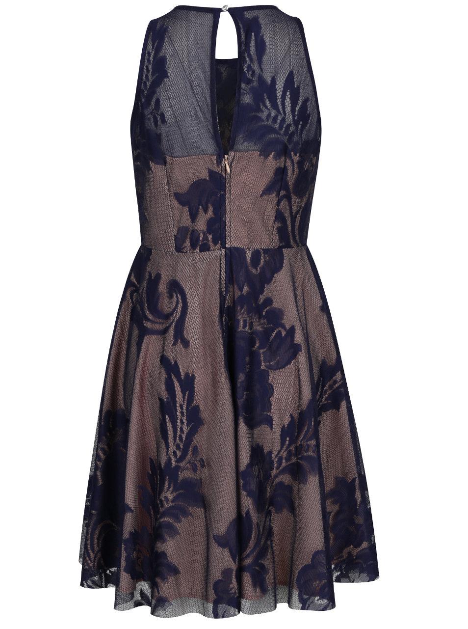 Tmavě modré krajkové šaty Little Mistress ... e69f6978f26
