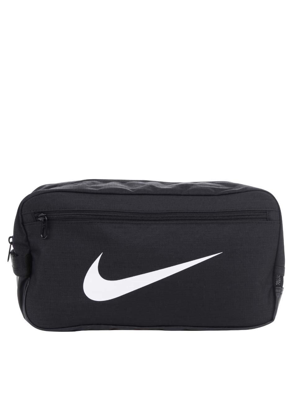Černá unisex voděodolná taška na boty s potiskem Nike