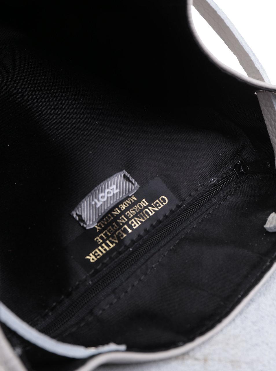 e129ad5c59 Sivý dámsky kožený batoh ZOOT