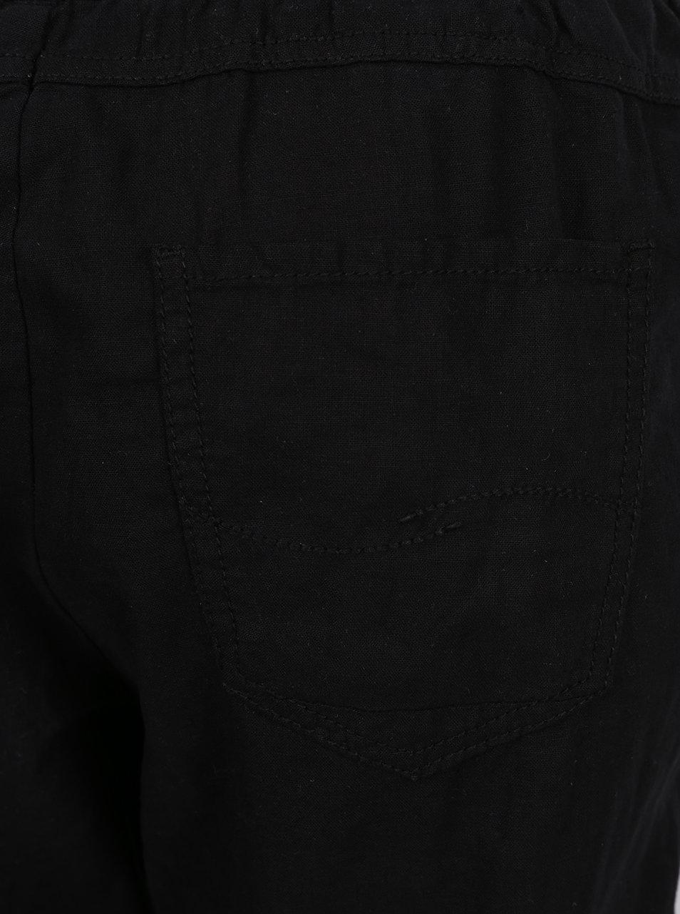 Čierne dámske voľné ľanové nohavice s pružným pásom QS by s.Oliver ... 6fac58bfedc