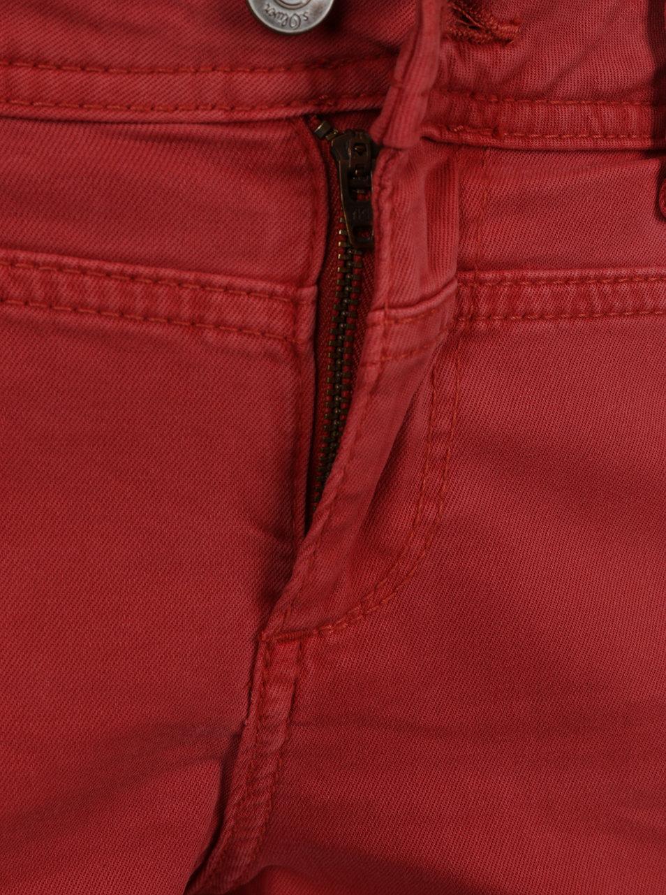 90d6d8837f0 Červené dámské capri džíny s.Oliver