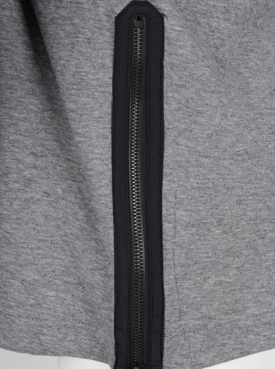 Sivá pánska mikina so zipsom na ľavom boku Nike Modern ... a9e723f7a63