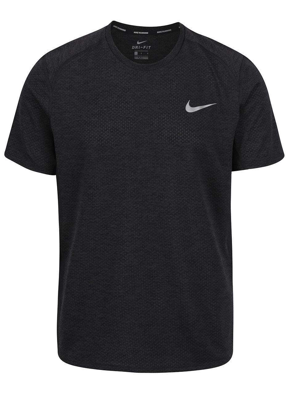 Černé pánské funkční triko Nike Miler ... e31c26b997