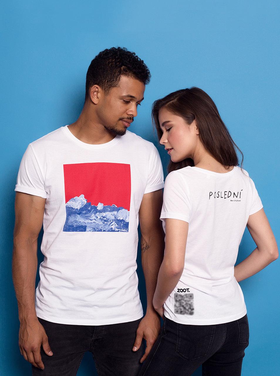7c97b2e0fbd Bílé dámské tričko s potiskem Ben Cristovao - Poslední ...