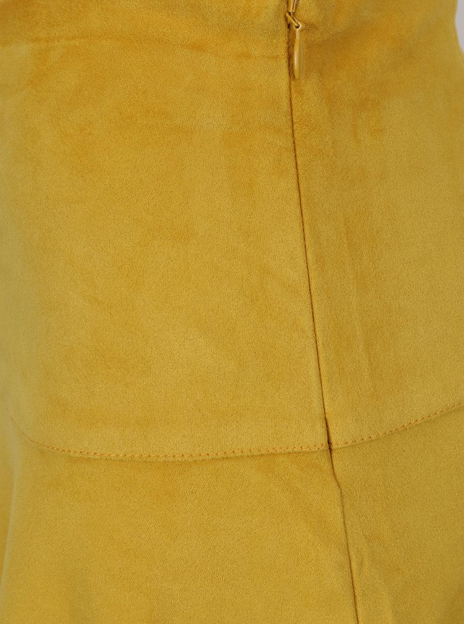 Žlutá minisukně v semišové úpravě VILA Then ... c119005d6d