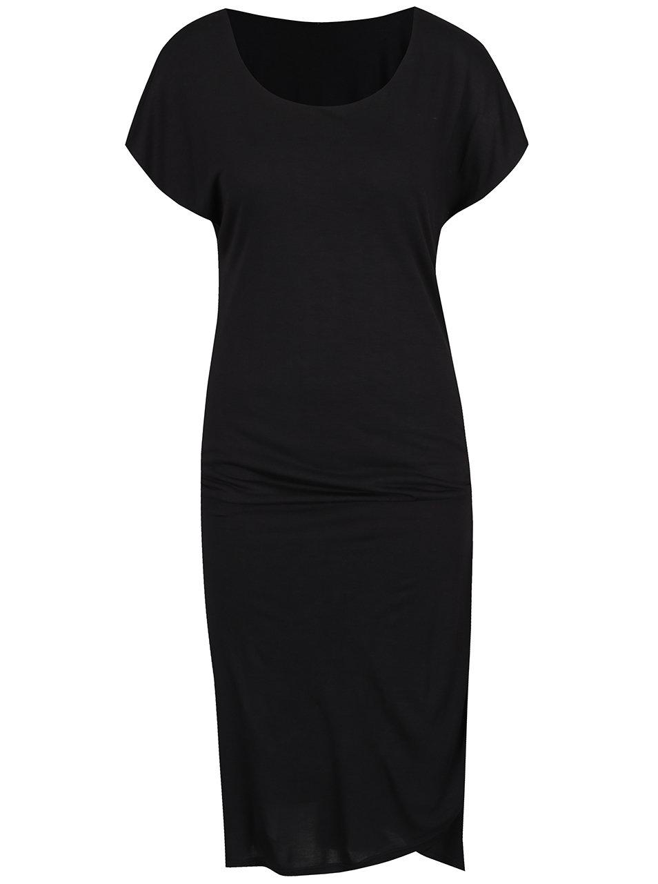 da4ef5856f98 Černé teplákové šaty a jemným rozparkem ONLY Melanie ...