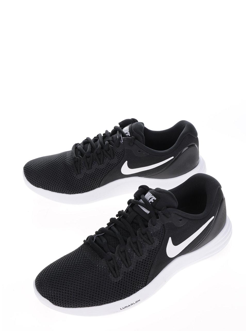 Bílo-černé pánské perforované tenisky Nike Lunar Apparent ... 98d3c77a9f