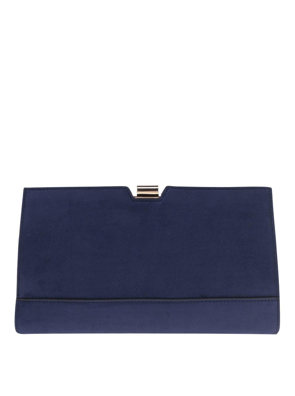 3147f044557c Tmavomodrá listová kabelka so sponou v zlatej farbe Dorothy Perkins ...