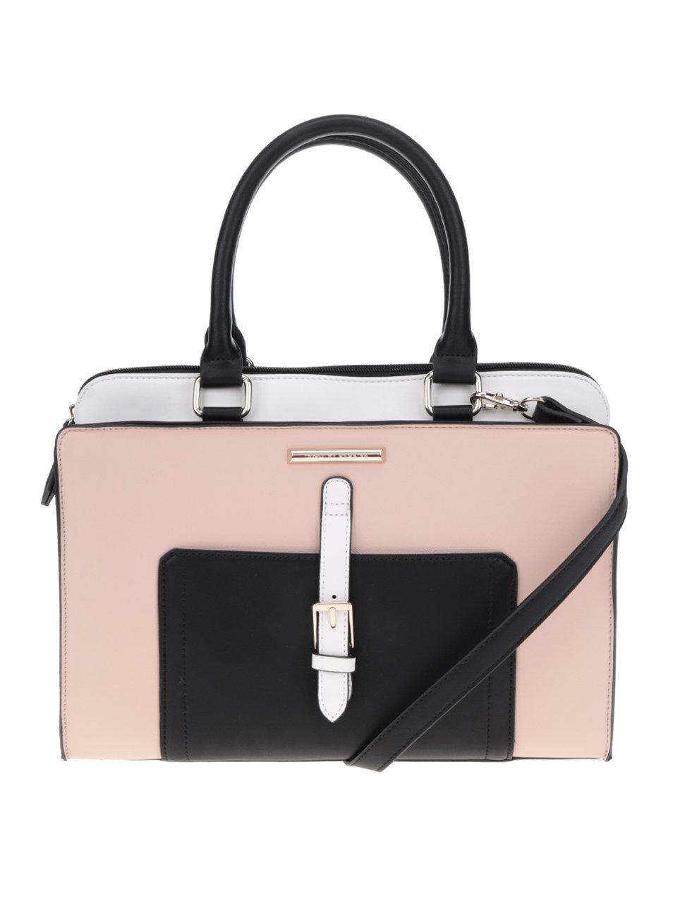 151d9d5380 Čierno-krémová kabelka s predným vreckom a prackou Dorothy Perkins ...