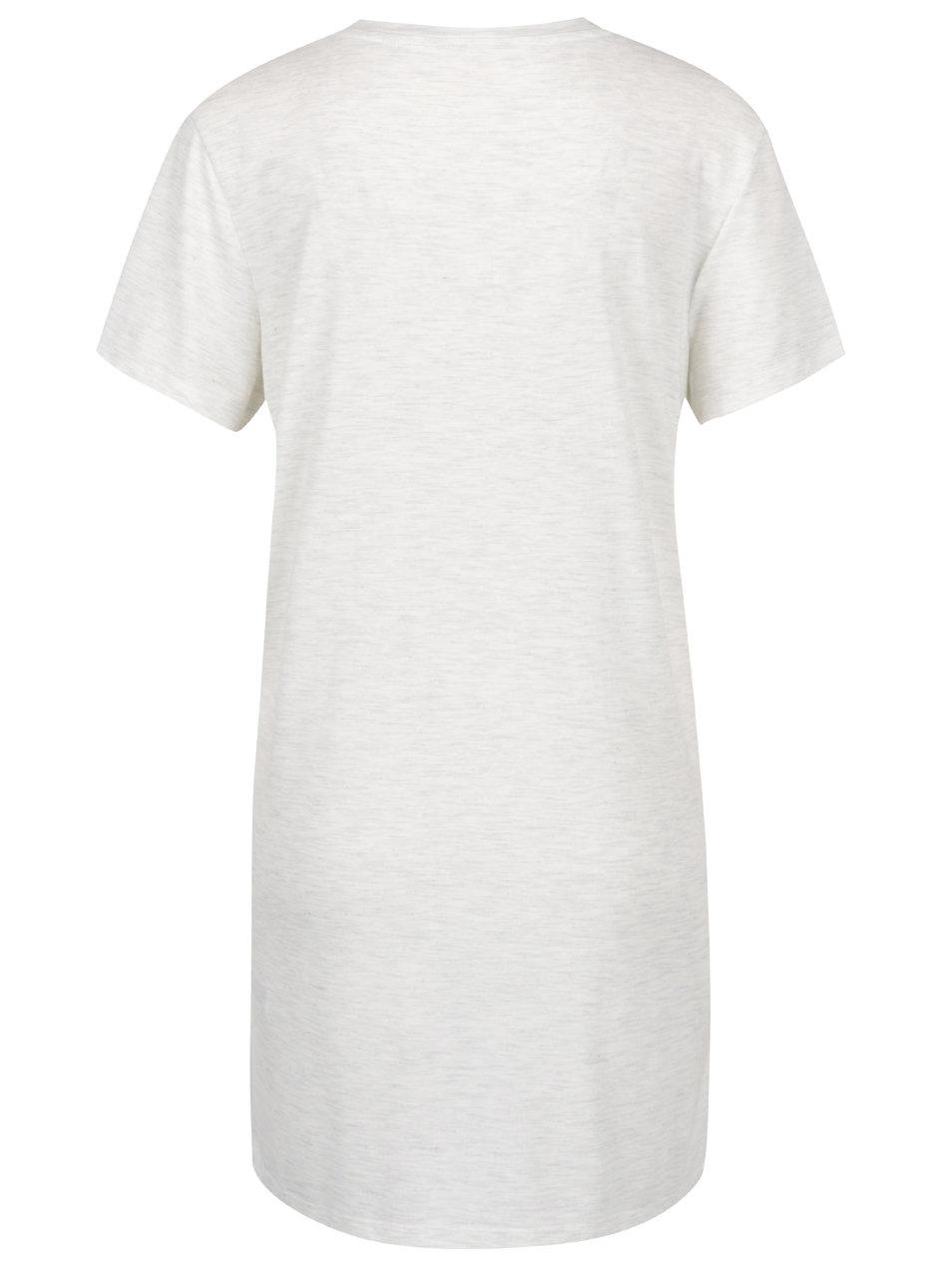 39b537e0a1e3 Sivé melírované dlhé tričko s potlačou Miss Selfridge ...