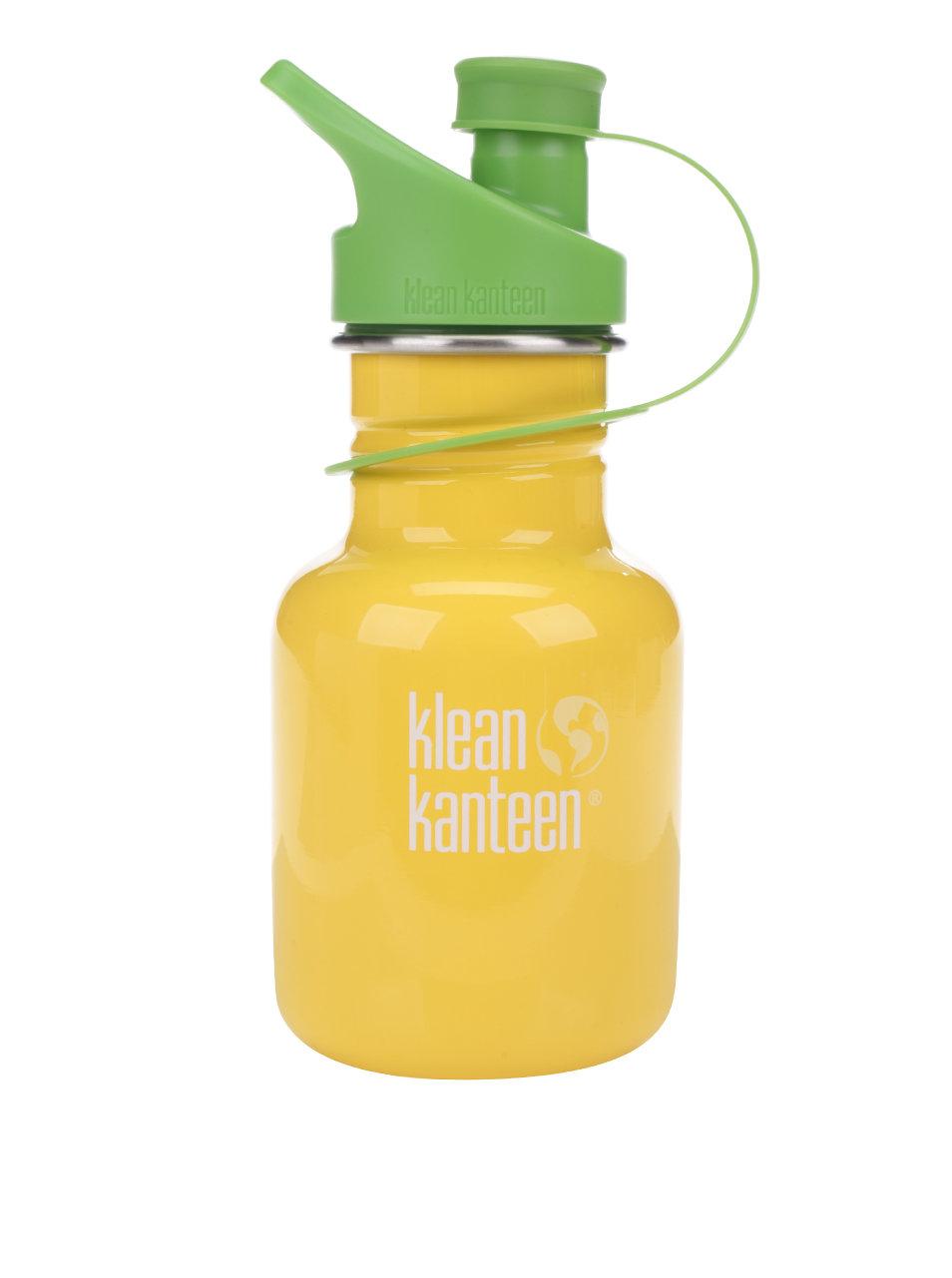 Žltá detská nerezová fľaša Klean Kanteen Kid Classic Sport 355 ml ... dd7c6646ac7