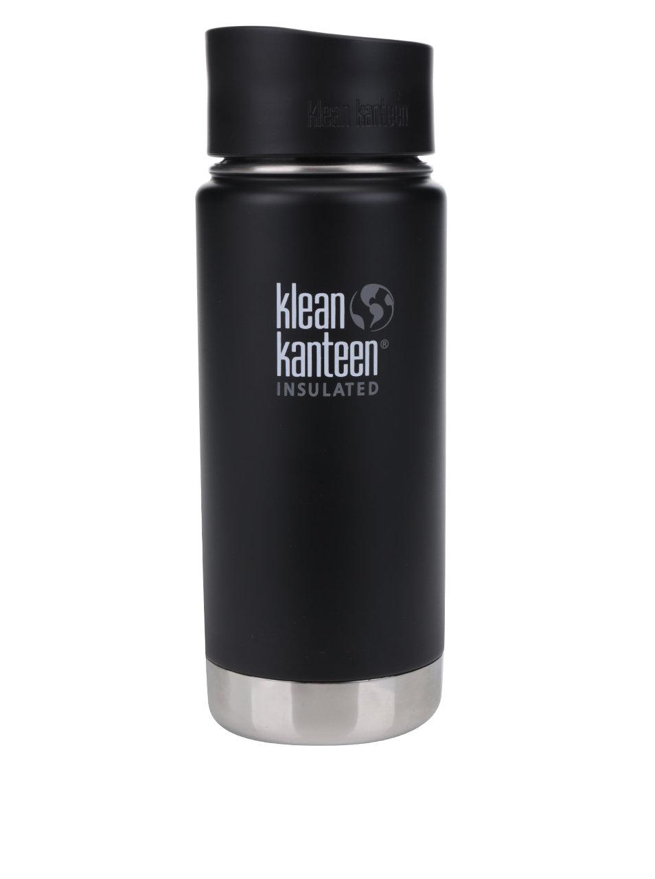 Černá nerezová termoska Klean Kanteen Insulated Wide 473 ml ... 21ca0942cb0