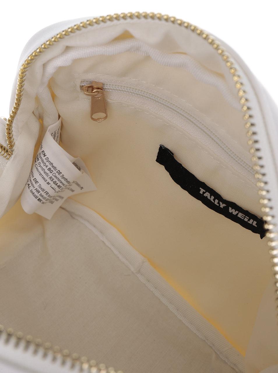 4befe64151 Bílá crossbody kabelka s detaily ve zlaté barvě TALLY WEiJL ...