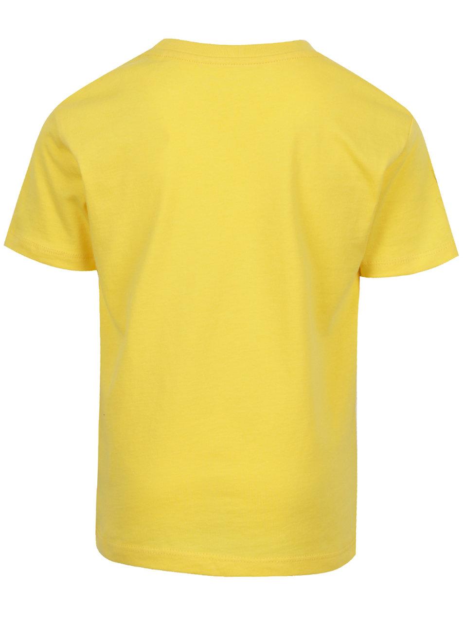 """""""Dobré"""" černo-žluté dětské tričko s potiskem Prague Pride 2017"""