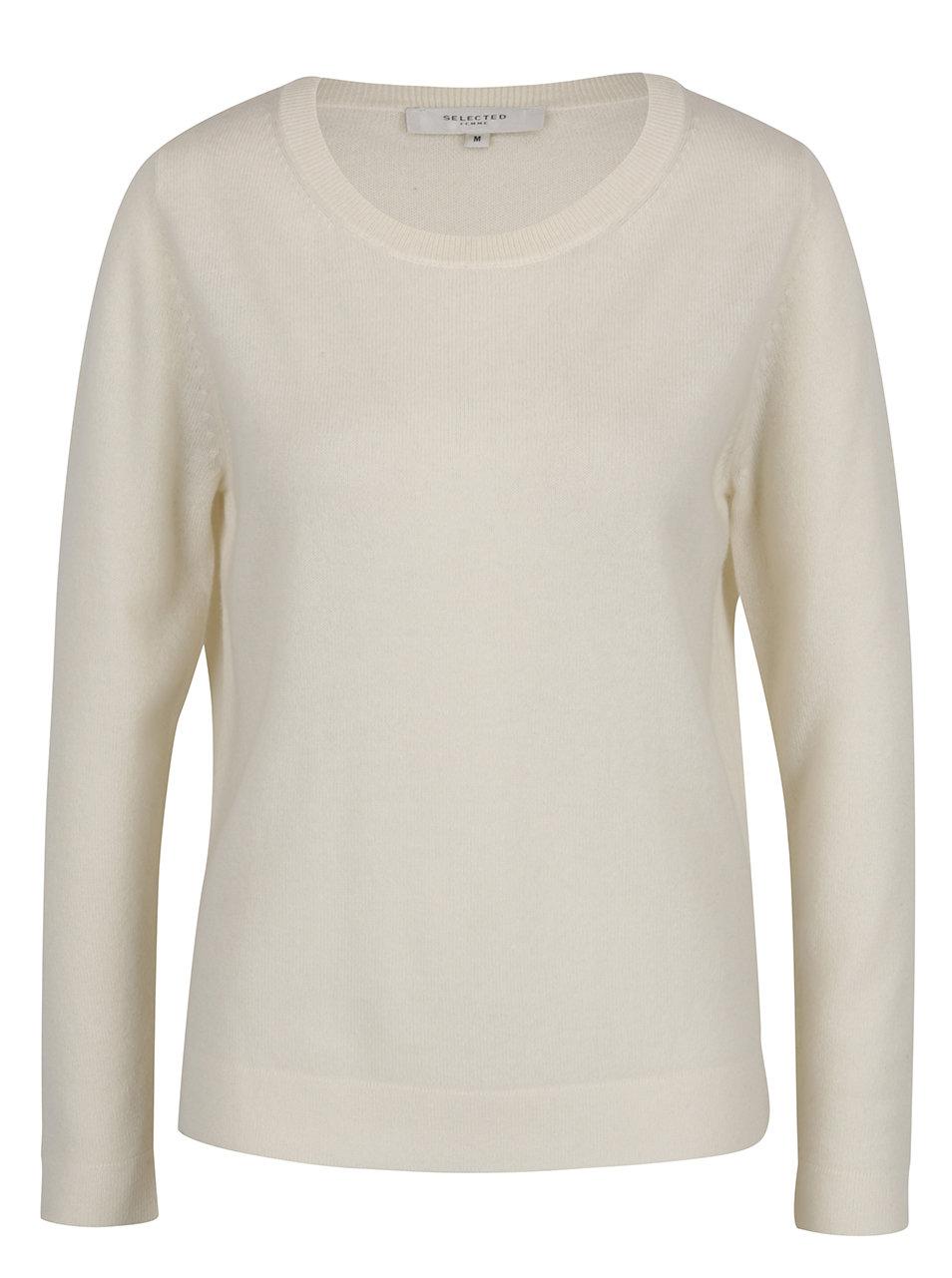 Krémový kašmírový svetr Selected Femme Aya ... 63a28d2f24