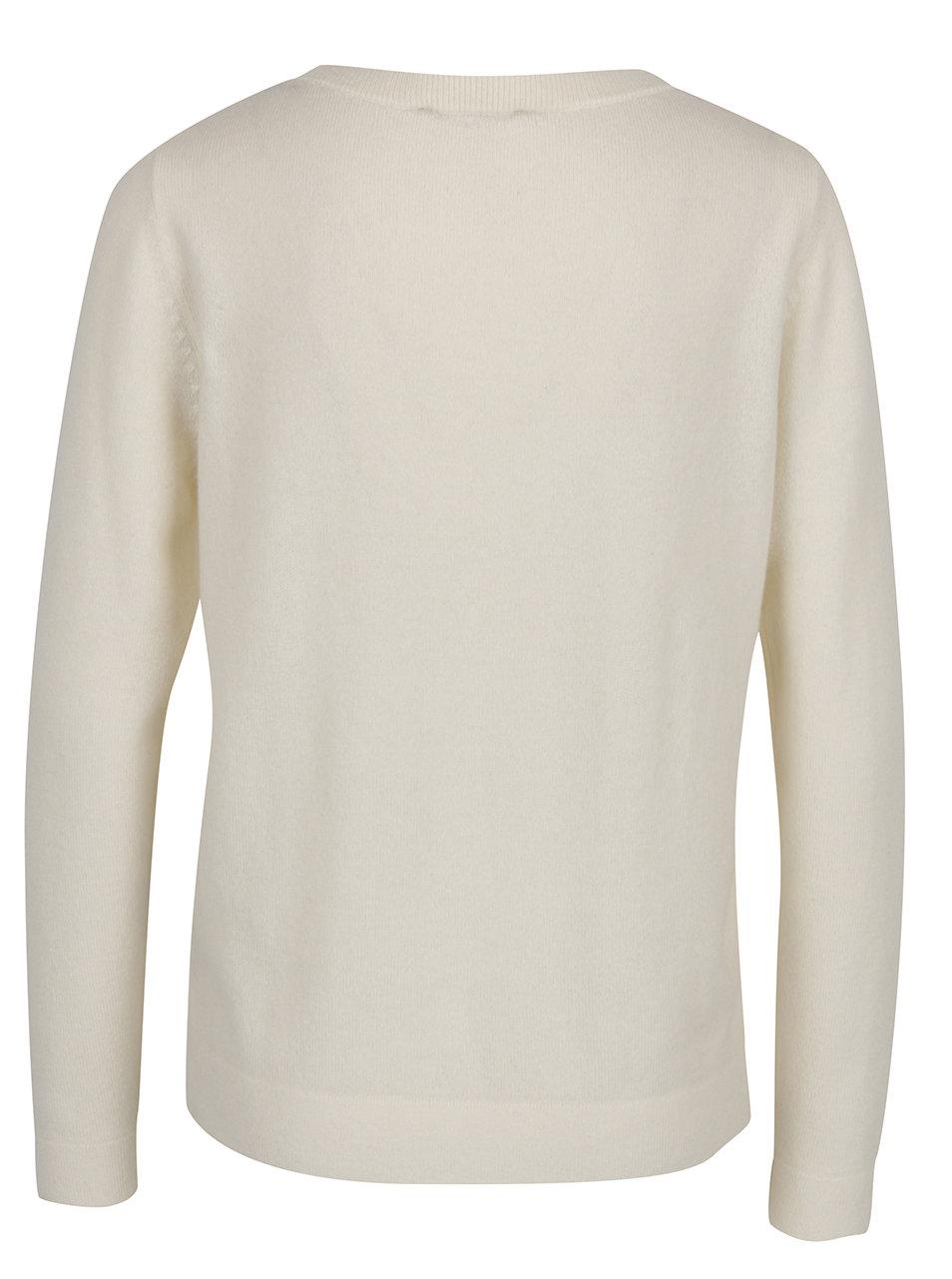7e0d028c898 Krémový kašmírový svetr Selected Femme Aya ...