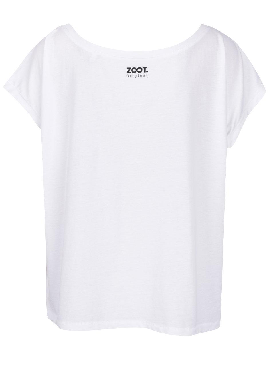 a04476579 Bílé dámské oversize tričko ZOOT Originál Flamingo | ZOOT.cz