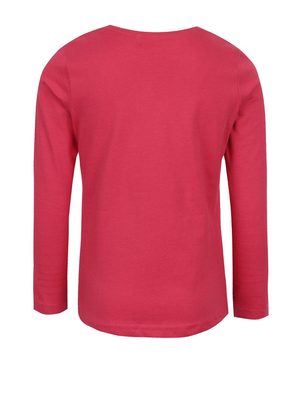 6d6db2cf6386 Ružové dievčenské tričko s dlhým rukávom name it Veenibi ...