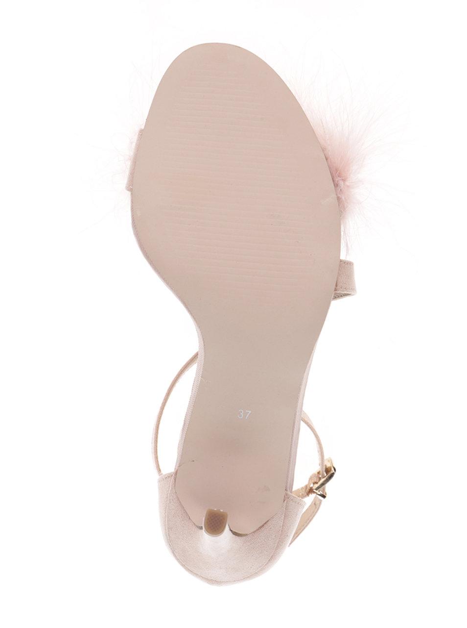 51d4b1f858f4 Ružové sandálky v semišovej úprave na ihlovom podpätku Miss KG Flirt ...