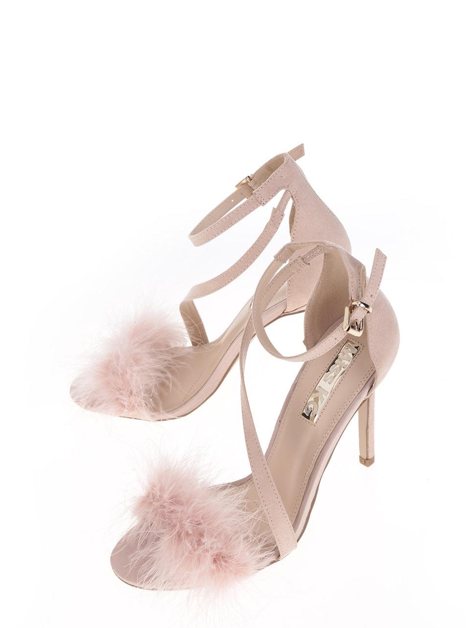 9fc50454832ad Ružové sandálky v semišovej úprave na ihlovom podpätku Miss KG Flirt ...